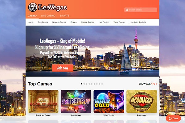LeoVegas casino home
