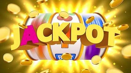 progressive jackpot slots reels with gold coins