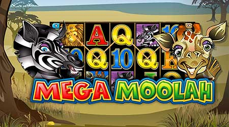 Mega Moolah slot game reels and characters